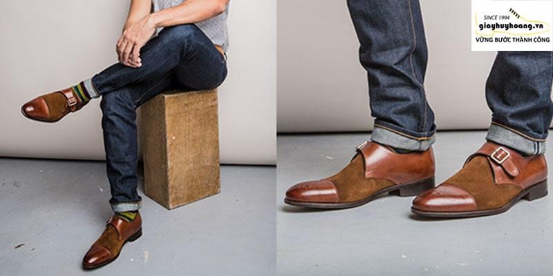 Ảnh giày da monkstrap là gì, phân biệt singlestrap - doublestrap