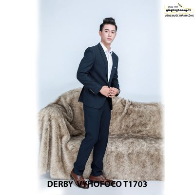 Nhân vật phối đồ với giày da nam derby vyhofoco t1703 chính hãng 003