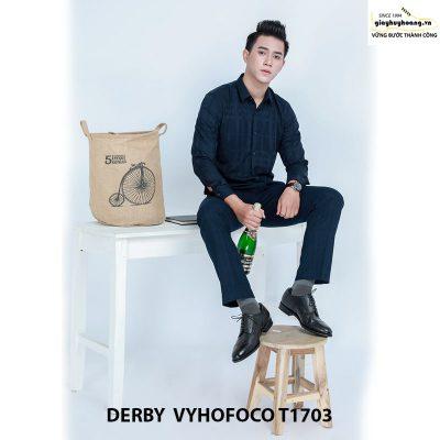 Nhân vật phối đồ với giày da nam derby vyhofoco t1703 chính hãng 002