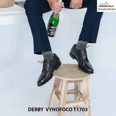Nhân vật phối đồ với giày da nam derby vyhofoco t1703 chính hãng 001