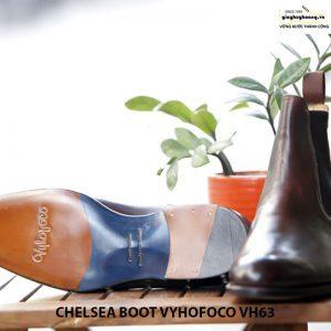 Giày da bò nam cổ cao chelsea boot vyhofoco vh63 cao cấp 002