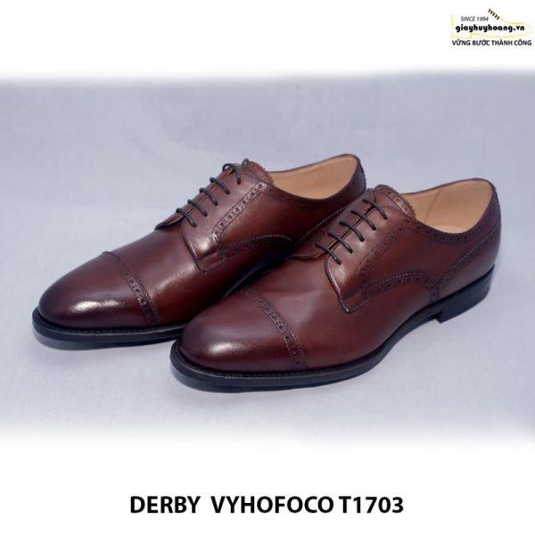 Giày tây nam da bò Derby vyhofoco T1703 cao cấp chính hãng 001