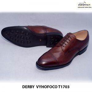 Giày tây nam da bò Derby vyhofoco T1703 cao cấp chính hãng 006