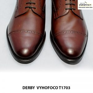 Giày tây nam da bò giá rẻ Derby vyhofoco T1703 cao cấp chính hãng 005
