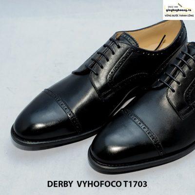Giày nam da bò Derby vyhofoco T1703 cao cấp chính hãng 003