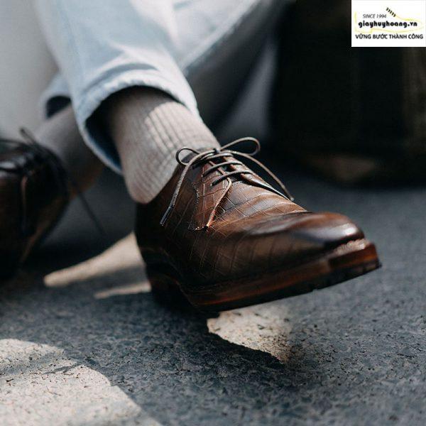 Giày tây da nam Derby Knar ORSON 004