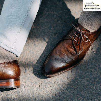 Giày tây da nam Derby Knar ORSON 003
