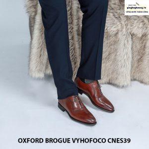 Giày nam da bò đẹp oxford vyhofoco cnes39 chính hãng cao cấp 005
