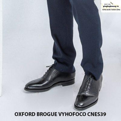 Giày nam da bò đẹp oxford vyhofoco cnes39 chính hãng cao cấp 004