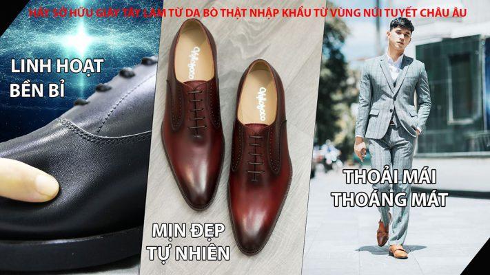 Banner hãy mua giày da thật chất lượng cao từ Châu Âu