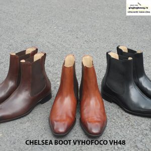 Giày da nam cổ cao đẹp chính hãng CHELSEA BOOT vyhofoco VH48 006