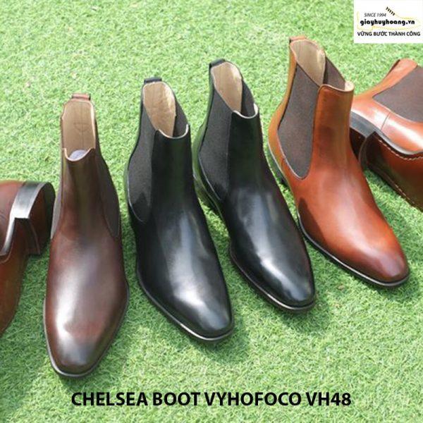 Giày da nam cổ cao giá rẻ CHELSEA BOOT vyhofoco VH48 004