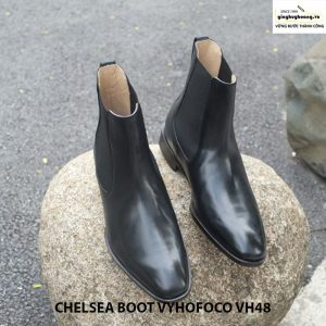 Giày da nam cổ cao màu đen chính hãng CHELSEA BOOT vyhofoco VH48 003
