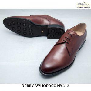 Giày da nam nâu bò cao cấp Derby vyhofoco NY312 cao cấp chính hãng 011