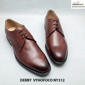 Giày da nam cao cấp Derby vyhofoco NY312 cao cấp màu nâu bò 009