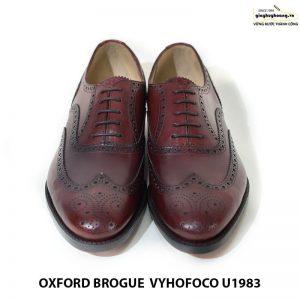 Giày tây da nam Oxford brogue Vyhofoco U1983 cao cấp chính hãng 001