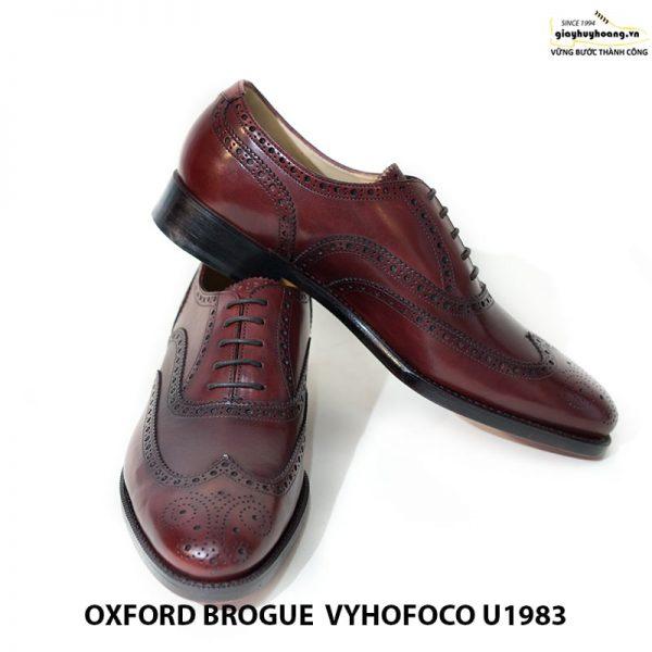 Giày tây da nam Oxford brogue Vyhofoco U1983 cao cấp chính hãng 008