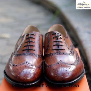 Giày da nam buộc dây Oxford brogue Vyhofoco U1983 cao cấp chính hãng 006