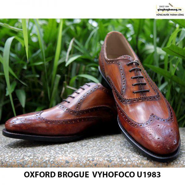 Giày nam da bò Oxford brogue Vyhofoco U1983 giá rẻ chính hãng 005