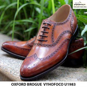 Giày buộc dây da nam Oxford brogue Vyhofoco U1983 cao cấp chính hãng 004
