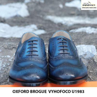 Giày da bò thật nam Oxford brogue Vyhofoco U1983 cao cấp chính hãng 003