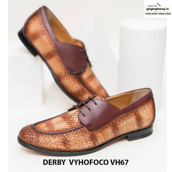 Giày nam da bò trẻ trung cao cấp derby vyhofoco vh67 chính hãng 010