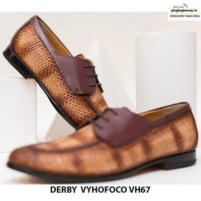 Giày tây nam da bò trẻ trung cao cấp derby vyhofoco vh67 chính hãng 009