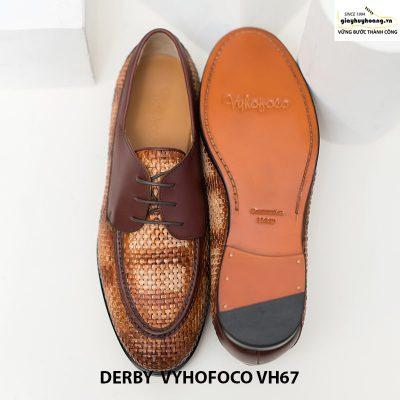 Giày tây da bò trẻ trung cao cấp derby vyhofoco vh67 chính hãng 009