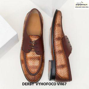 Giày nam da bò đẹp cao cấp derby vyhofoco vh67 chính hãng 007