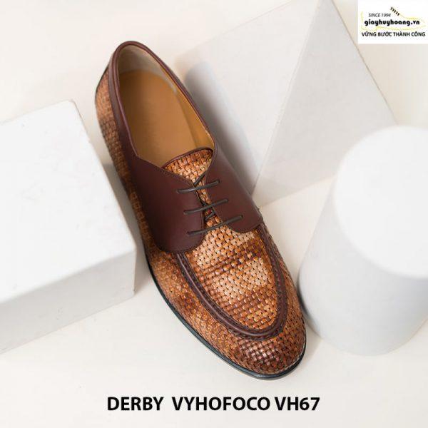 Giày nam da bò trẻ trung cao cấp derby vyhofoco vh67 chính hãng 006