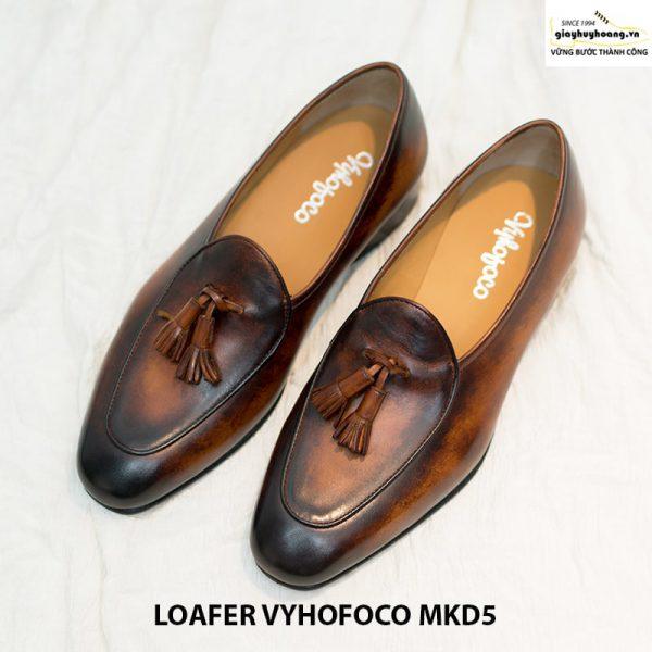 Giày loafer lười da bò nam Vyhofoco Mkd5 cao cấp 004