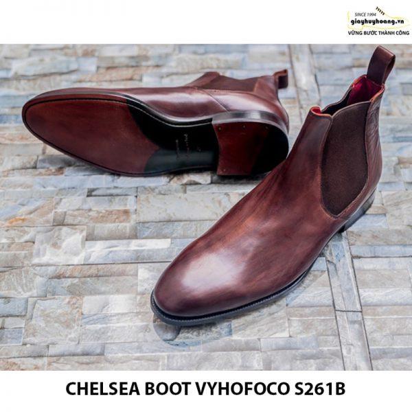 Giày tây nam da bò chính hãng Chelsea boot vyhofoco s261B đẹp 002