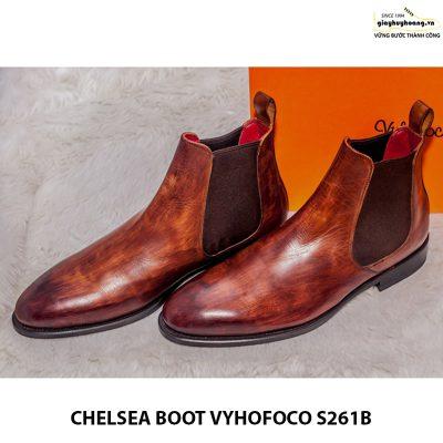 Giày tây nam da bò chính hãng Chelsea boot vyhofoco s261B đẹp 001