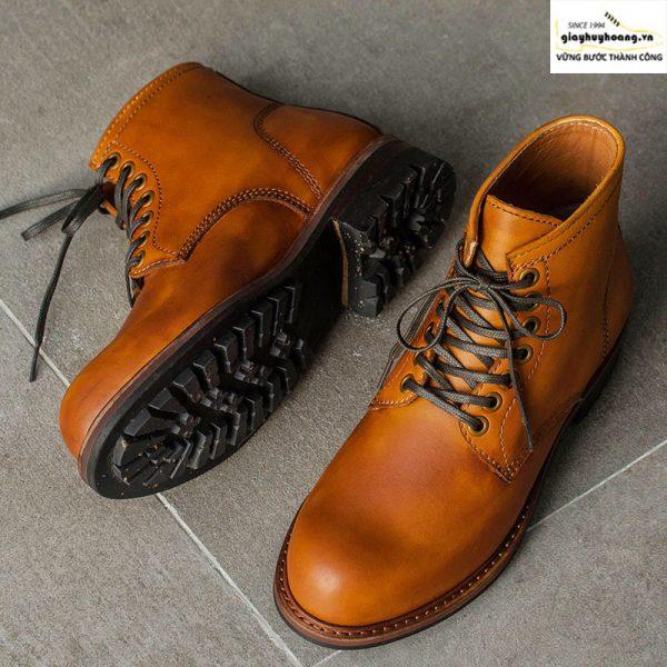 Giày da nam cổ cao boot knar irminsul cao cấp chính hãng 002