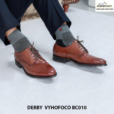 Giày nam da bò giá rẻ Derby Vyhofoco BC010 chính hãng cao cấp 002