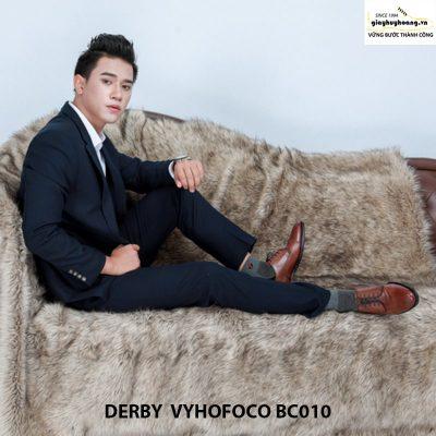 Giày tây nam da bò Derby Vyhofoco BC010 chính hãng cao cấp 009