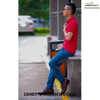 Giày tây nam da bò Derby Vyhofoco BC010 chính hãng cao cấp 007