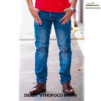 Giày tây nam da bò Derby Vyhofoco BC010 chính hãng cao cấp 006