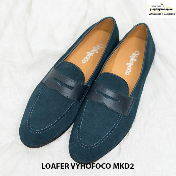 Giày nam lười da bò loafer Vyhofoco MKD2 cao cấp 001