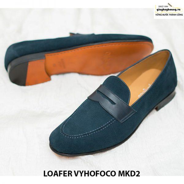 Giày nam lười da bò chính hãng loafer Vyhofoco MKD2 cao cấp 004