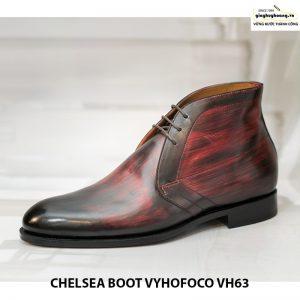 Giày tây nam da bò cổ lửng chukka boot vyhofoco vh59 cao cấp 009