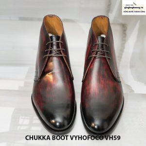 Giày chukka boot vyhofoco vh59 nam da bò cổ lửng cao cấp 008