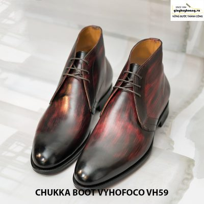 Giày nam da bò cổ lửng chukka boot vyhofoco vh59 cao cấp 006