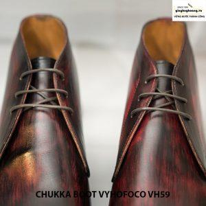Giày tây nam da bò cổ lửng chukka boot vyhofoco vh59 chính hãng 005