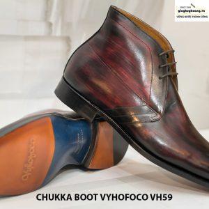 Giày tây nam da bò cổ lửng chukka boot vyhofoco vh59 cao cấp 002