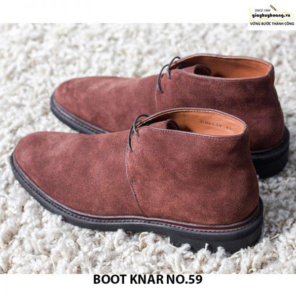 Giày tây da lộn nam cổ cao boot knar no59 chính hãng cao cấp 005