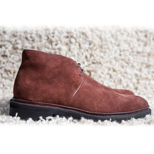 Giày da nam cổ cao boot knar no59 chính hãng cao cấp 001