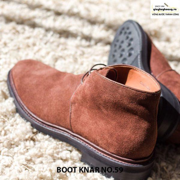 Giày da lộn nam cổ cao boot knar no59 chính hãng cao cấp 004