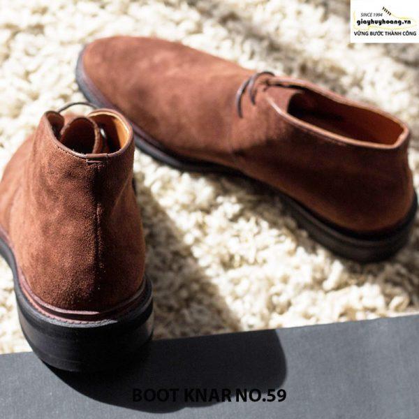 Giày tây da nam cổ cao boot knar no59 chính hãng cao cấp 002