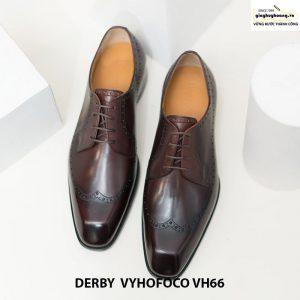 Giày tây nam da bò trẻ trung derby vyhofoco vh66 cao cấp chính hãng 006